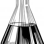 Czarno biała stożkowa kolba